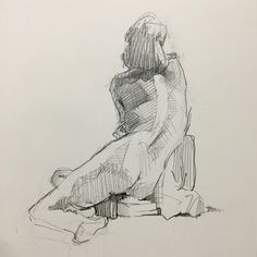 Figure #sketch 4.13.16 by Sarah Sedwick. #art #drawing #figuredrawing…