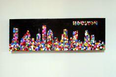 one clever mom: Fingerprint Skyline - a school class art project!