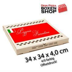 Pizzakarton 34 x 34 x 4,0cm Produktdatenblatt
