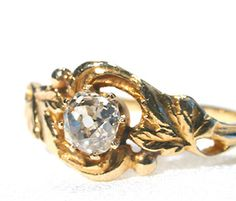 Art Nouveau Diamond Ring...Reminds me of my own wedding ring!