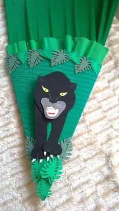 Schultüten - Schultüte Bastel-Set Panther od. fertig gebastel - ein Designerstück von kreativ-was-sonst bei DaWanda