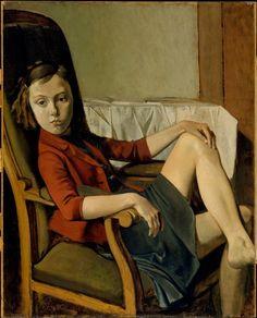 Balthus (Balthazar Klossowski) (1908–2001), Thérèse 1938 on ArtStack #balthus-balthazar-klossowski-1908-2001 #art