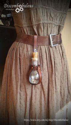 Steampunk Harry Potter Potion Bottle Belt Hanger for Witches and Wizards, Gryffindor, Slytherin, Hufflepuff, Ravenclaw, Hogwarts