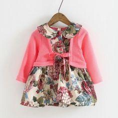 Alessia pink cardigan dress