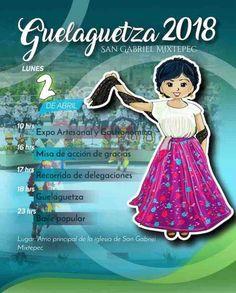 La comunidad de San Gabriel Mixtepec, municipio de la región de la Costa oaxaqueña, realizará su Guelaguetza 2018 el próximo lunes 2 de abril