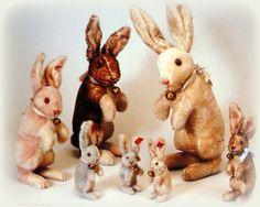 Steiff antique bunnies