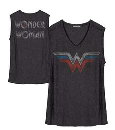 Junk Food Womens Wonder Woman Arrow Muscle Tank