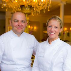 Christophe Moret en cuisine et Claire Heitzler en pâtisserie - Lasserre - 17 Avenue Franklin Delano Roosevelt - 75008 Paris Chefs, Claire Heitzler, Guide Michelin, Grand Chef, Le Chef, Roosevelt, Chef Jackets, Restaurants, Europe