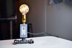 We Built A Phone-Charging Lamp With Our Bare Hands And You Can Too