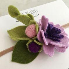 Feltro fiore fascia lilla
