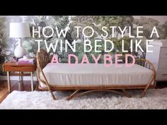 How To Style A Twin Bed Like A Sofa | Emily Henderson | Bloglovin'