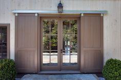 Garage Door Barn Detail With Lantern Light Style Sliding Doors Front Screen