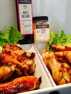 Marinating chicken wing dings in YIAH Autumn Harvest Glaze and a little YIAH Maple Balsamic Vinegar... Add a little apple juice to Dry Glaze to make a thinner paste, whisk in BV... Pour over chicken and pop in the fridge for at least half an hour