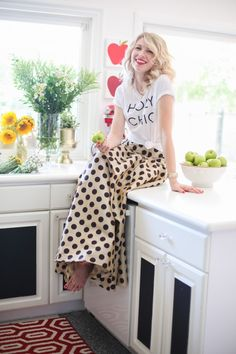 Brooke White from Glitter Guide looking gorgeous wearing our Waltzing Matilda Skirt