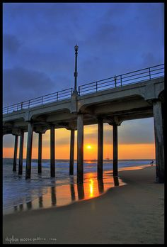 Sunset at Huntington Beach, California, USA