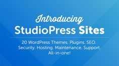 StudioPress Sites is more than just WordPress themes. And it's more than managed WordPress hosting. It bundles everything you need to run a successful website: mobile-optimized themes, premium plugins, advanced SEO, security monitoring, maintenance, and blazing fast hosting — all in one place; Details>