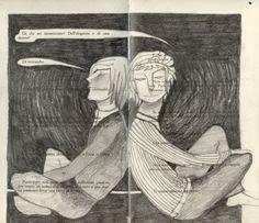 """Camilla Cazzaniga """"La ruota dentata di Akutagawa 2"""" matita su romanzo 2010"""