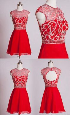 Red Homecoming Dress,Short Homecoming Dresses,Homecoming Gown,Party Dress,Sparkle Prom Gown