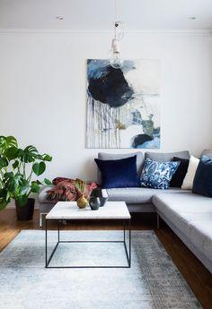 Bord med marmorplate