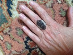 Rings Selber Machen Hematite Heaven Ring - FREE Tutorial by Bronzepony Beaded Jewelry - Seed Bead Jewelry, Bead Jewellery, Beaded Jewelry, Beaded Bracelets, Wire Jewelry, Seed Beads, Handmade Jewelry, Jewelry Making Tutorials, Beading Tutorials