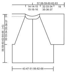 Схема вязания Жакет из хлопка Кали DROPS 120-43 Cali