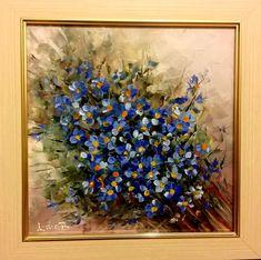 """Am """"cotrobăit prin net"""" și am constatat că sunt foarte multe flori albastre în România; Gențiana, Nu-Mă-Uita, Lumănărica, Stejărelul, Clopoțeii, Priboiul, Șopârlița, Cicoarea, Vinețica, Salvia de Câmp, Zambila Struguraș, Bobornicul, Coada Mielului ... și altele, și altele, și altele. Salvia, Painting, Art, Honey, Art Background, Sage, Painting Art, Kunst, Paintings"""