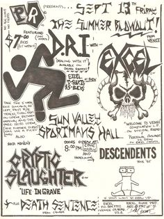 no age limit, no fights, descendents headlined playing with 3 thrash bands. wonder what crowd was like