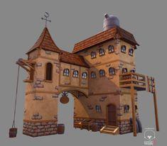 ArtStation - Low poly Stylized Fantasy House 4, Gerald Cruz