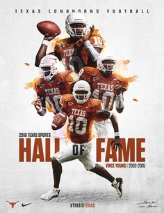 I like how they made the three top photos of Vince Young appear to be exploding out of the bottom photo. #THISISTEXAS