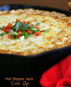 Hot Pepper Jack Corn Dip - Hot corn dip is one of my favorite dips to make especially during the season when fresh corn is abundant. Lots of pepper jack cheese doesn't hurt either.
