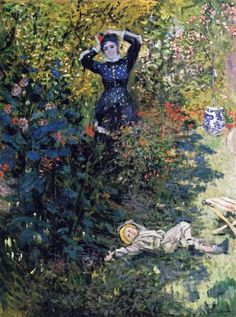 Camille and Jean Monet in the Garden at Argenteuil - Claude Monet, 1973