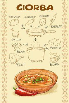 Ciorba - Romanian and Moldova dish served for main course. Romania Food, Comidas Fitness, Hungarian Recipes, Romanian Recipes, Soup Recipes, Cooking Recipes, Good Food, Yummy Food, Tasty