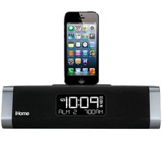 iHome Lightning Dock with Dual Charging FM Stereo Clock Radio and USB  Charge Play for iPhone (Newest Model) 9e5864602f251