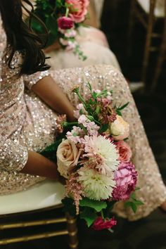 Glittery bridesmaid