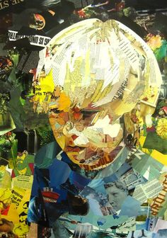 Collage Art from Paper Strips by Patrick Bremer