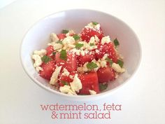 Watermelon, Feta, & Mint Salad