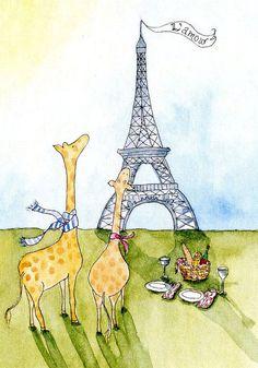 i love jiraf , paris