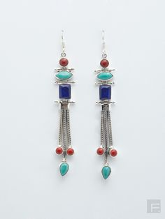 FabIndia // Multi- Stone Long Earrings