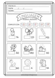 Atividade letra L Cursive Handwriting, Handwriting Worksheets, Home Schooling, School Days, Coloring Pages, Kindergarten, Bullet Journal, Notebook, Learning