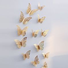 Hollow Wall Stickers Butterfly Fridge for Home Decoration Mariposas Decorativas Wall Decor декор для дома для дома Wall Stickers Wallpaper, 3d Mirror Wall Stickers, Wall Stickers Room, Cheap Wall Stickers, Stickers Online, Butterfly Wall Decor, Butterfly Wall Art, 3d Butterfly Wall Stickers, Butterfly Decorations