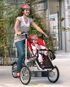 Taga Bike converts to a stroller in under 20 seconds. This is amazing.