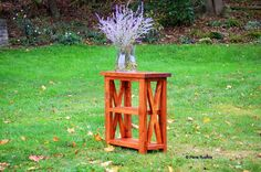 Rustic X Mini Entryway Table by PennRustics on Etsy