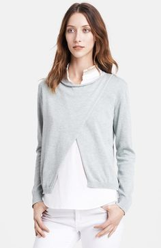 Fabiana Filippi Poplin Shirt & Sweater | Nordstrom
