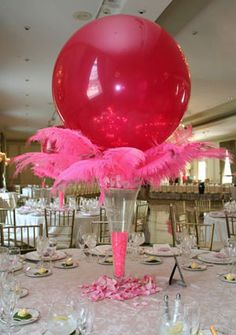15 Ideas for Balloons - Feather Balloon Centerpieces by Life O' The Party Balloon Centerpieces, Balloon Decorations, Wedding Decorations, Balloon Ideas, Balloon Designs, Wedding Balloons, Holidays And Events, Event Decor, Holiday Parties