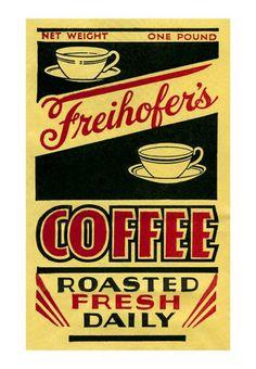 Freihofer's Coffee Label