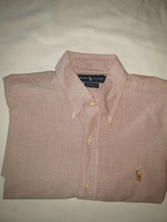 53512f84f Mens Ralph Lauren Yarmouth Red Polo LS Button-Down Shirt Medium 16 34  #fashion