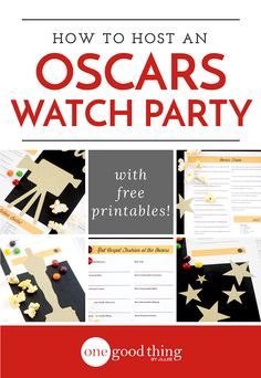 Set the stage for the Academy Awards this Sunday with these award-worthy Oscar party printables!