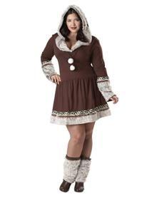 Eskimo Kisses Adult Women's Plus Size Costume