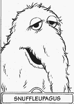 sesame street coloring page 3