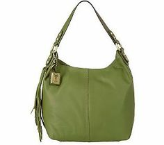 Tignanello Glove Leather Hobo Bag with Tassel Detail
